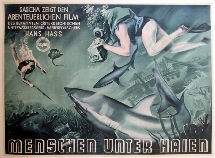 Men Among Sharks German Poster