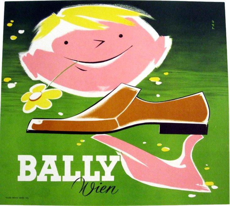 Bally Men's Shoe Poster