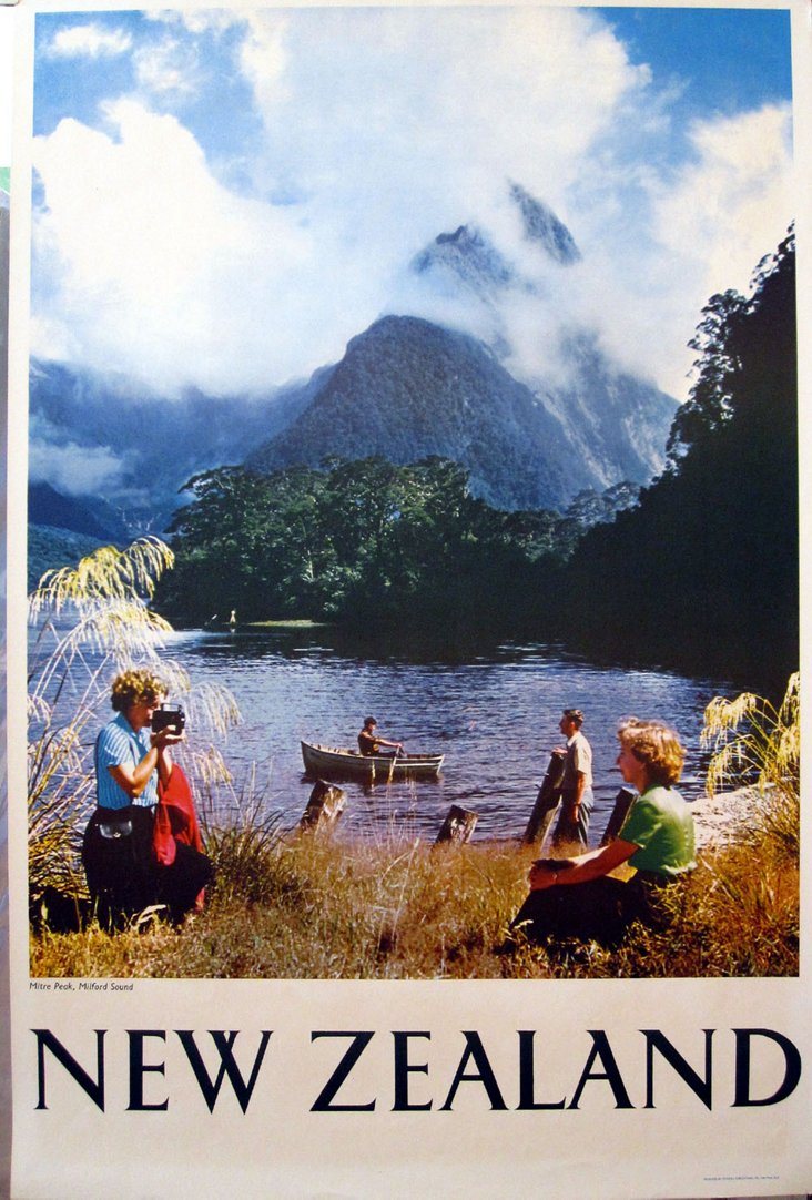 New Zealand Lakes Travel Poster