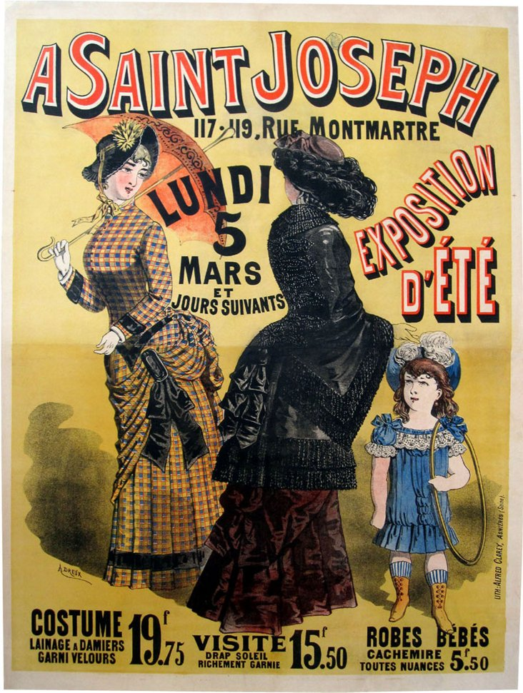 Antique French Fashion Poster