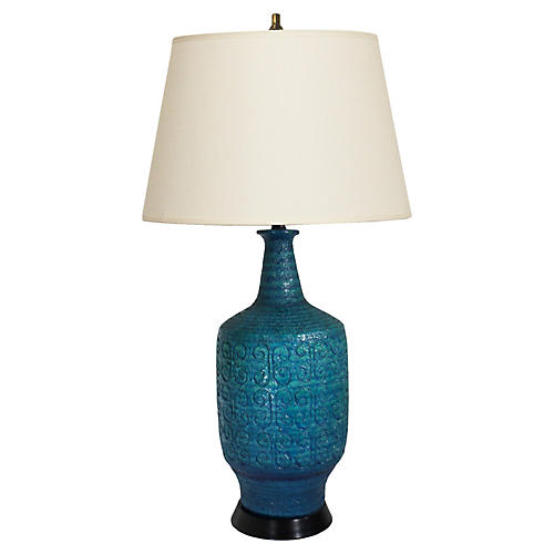 Midcentury Italian Large Ceramic Lamp