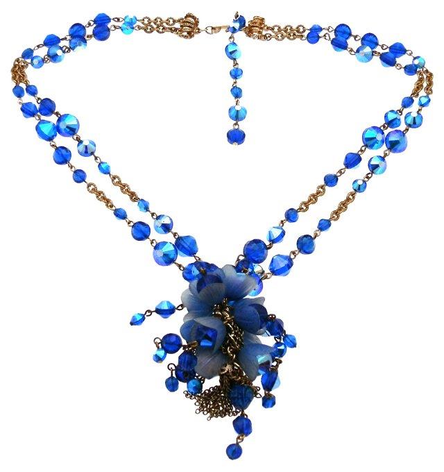Hobe Blue Beaded Necklace
