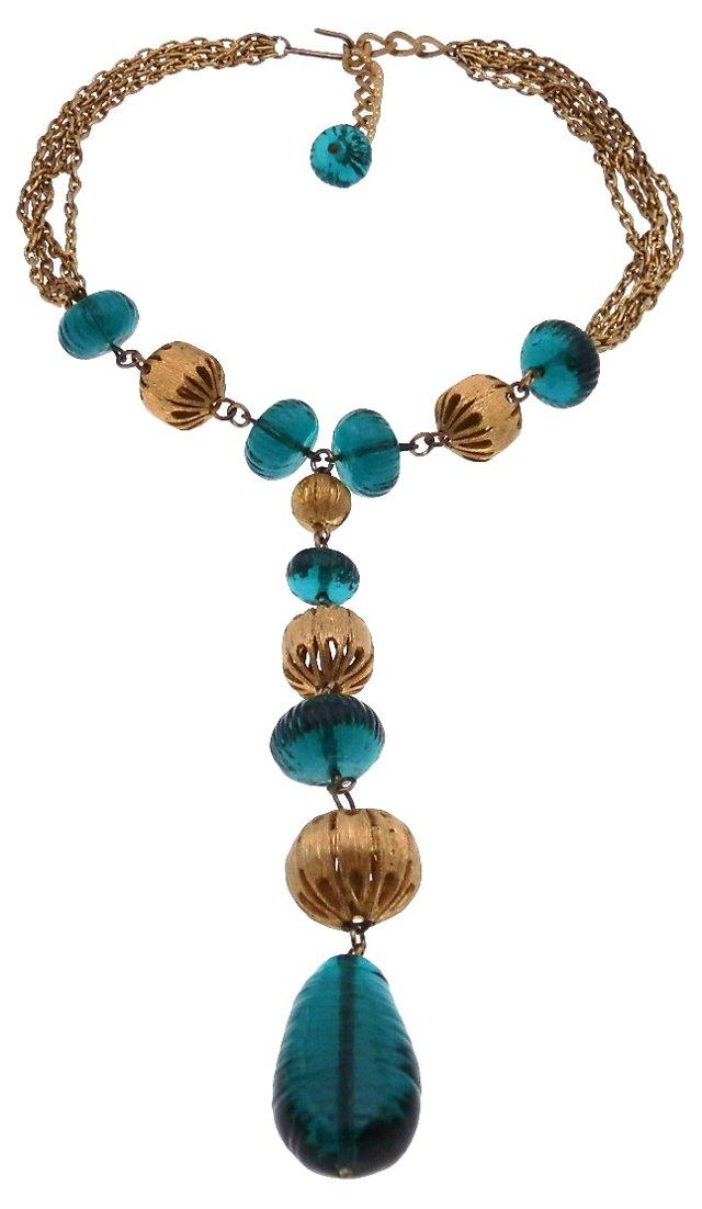 Gripoix & Filigree Spheres Necklace