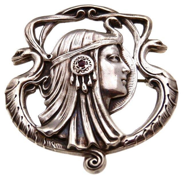 Sterling Art Nouveau Brooch, 1902