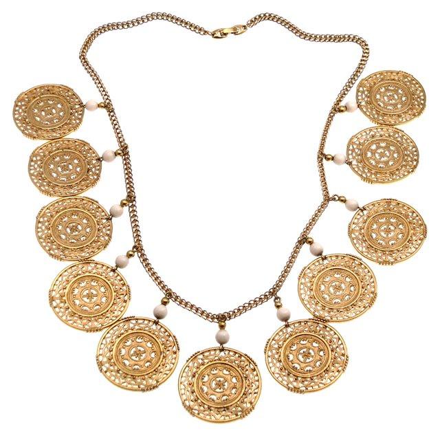 Monet Filigree Discs Charm Necklace