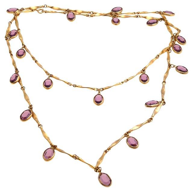 Amethyst Crystal Charm Necklace
