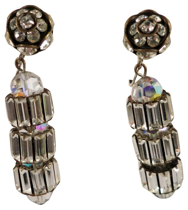 Vogue Clear Rhinestone Earrings