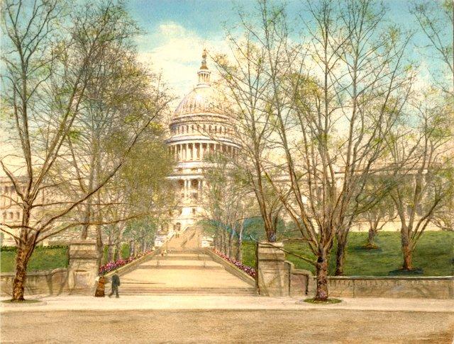 U.S. Capitol Building, C. 1910