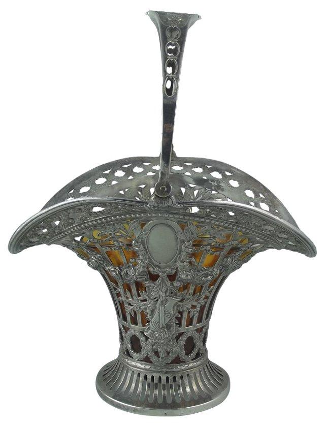 Silverplate Flower Basket