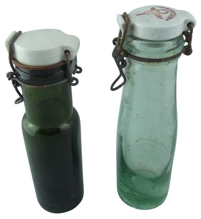 Preserving Bottles, Pair