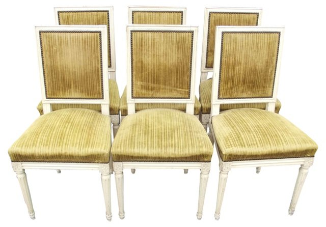 Louis XVI-Style  Chairs, Set of 6