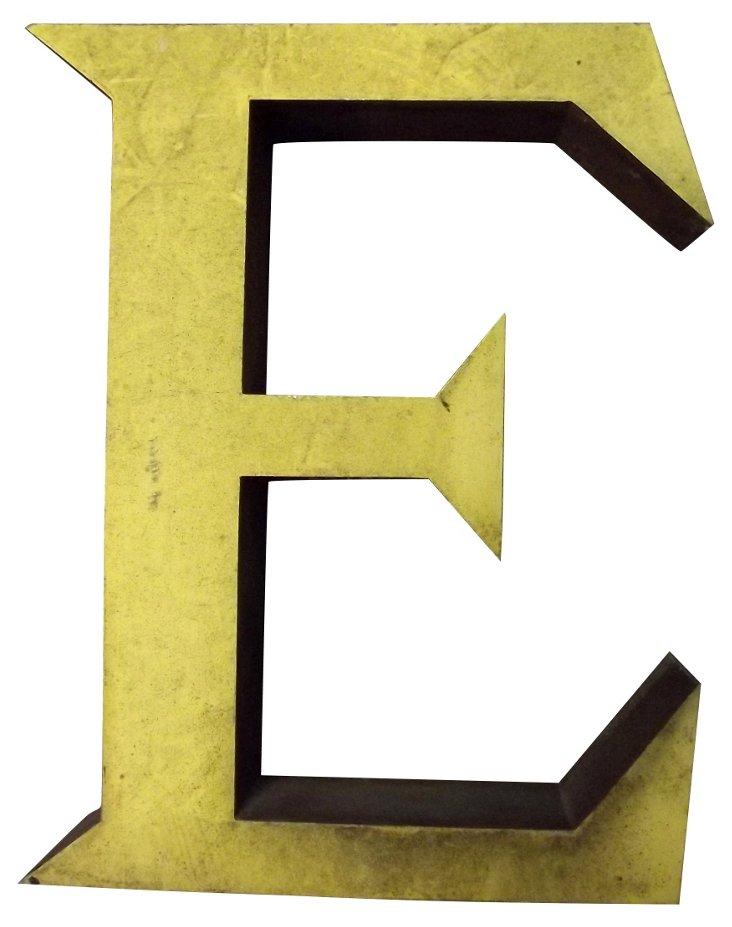 Sign Letter E