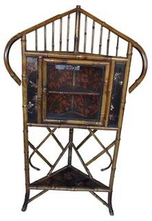 English Bamboo Corner Cupboard   Cabinets U0026 Hutches   Living Room    Furniture | One Kings Lane