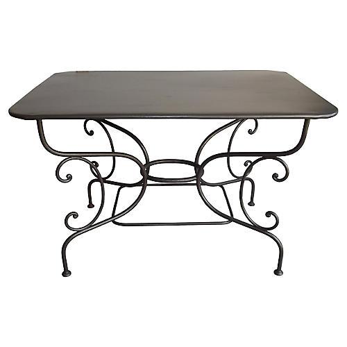 19th-C. Parisian Bistro Table