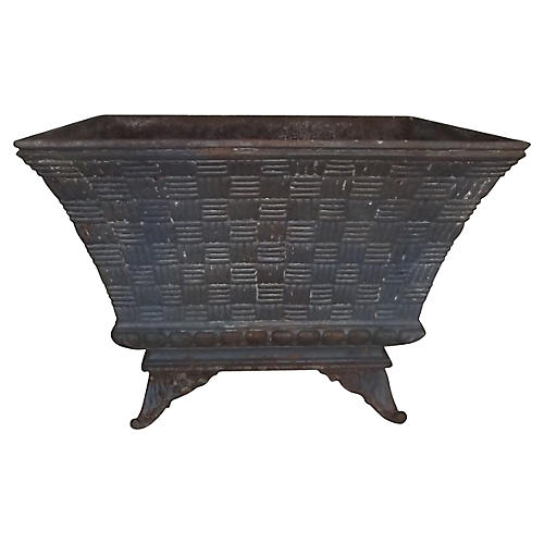 French Basket-Weave Planter