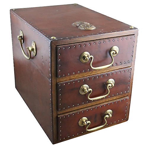 English Officer's Leather Storage Box