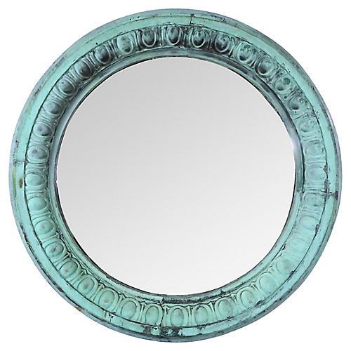 Large Architectural Copper Convex Mirror
