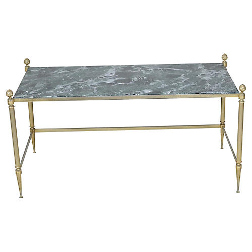 French Marble Topped Coffee Table
