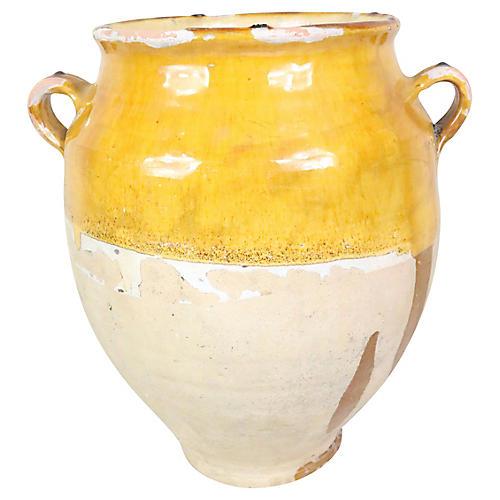 French Ochre Glazed Confit Pot