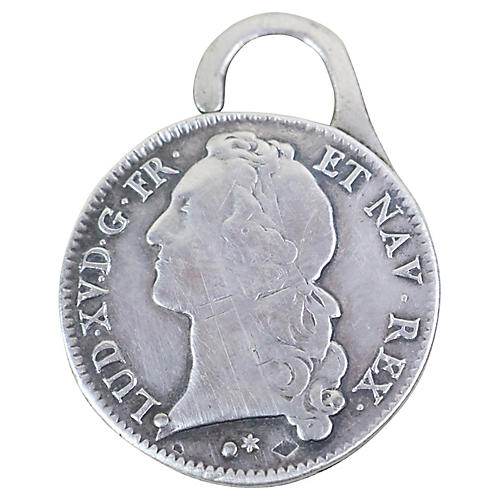 Hermes Antique Coin Key Ring