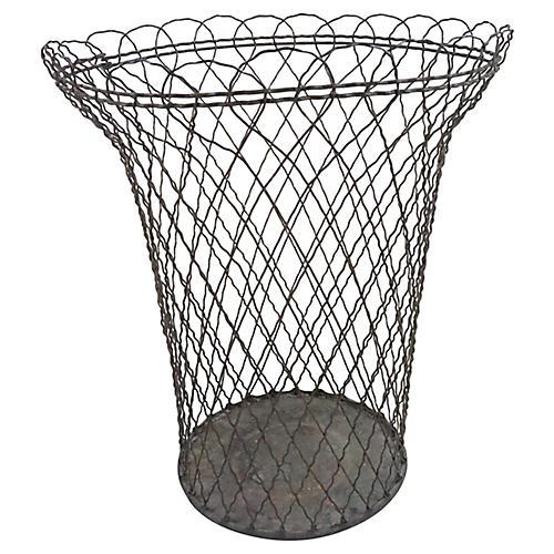 French Wire Wastebasket