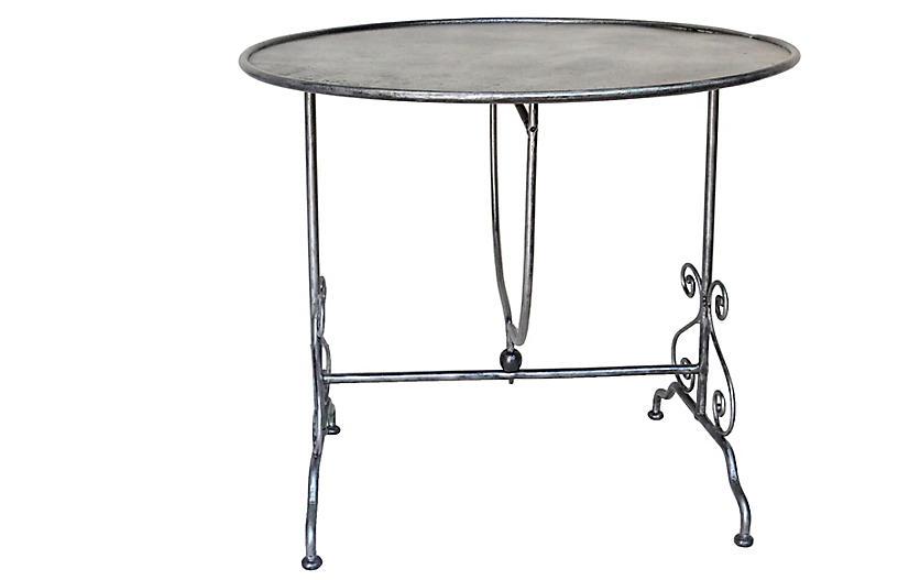 Rare French Tilt Top Bistro Table
