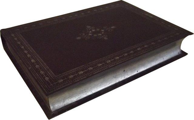 Brown Book Biscuit Tin