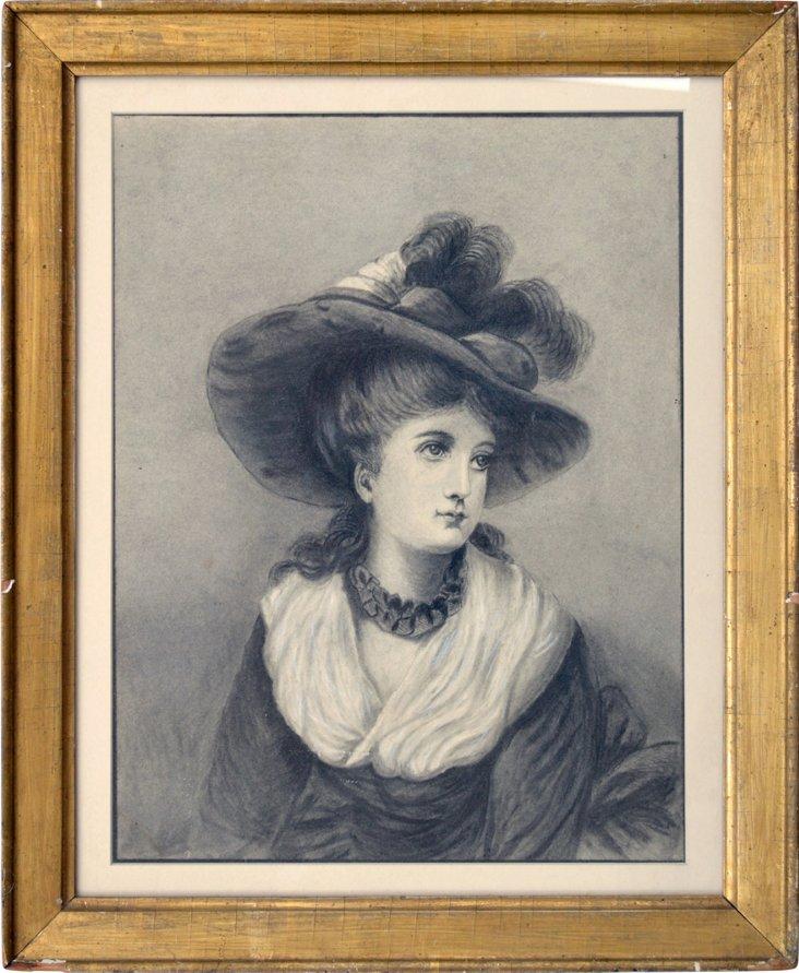 19th-C. British School Drawing