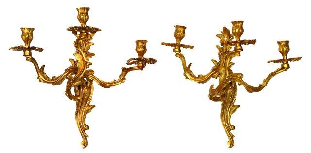 Louis XV-Style Sconces, Pair