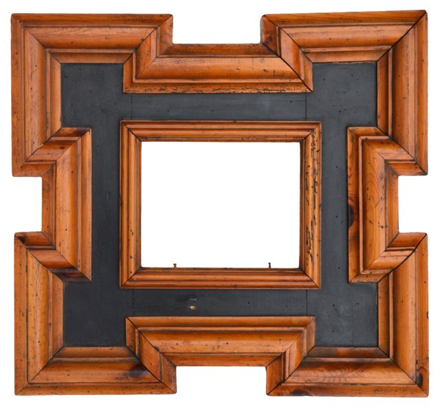 Dutch-Style Parcel Ebonized Frame