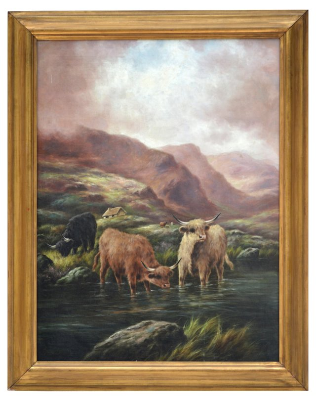 Scottish Landscape w/ Highland Cattle