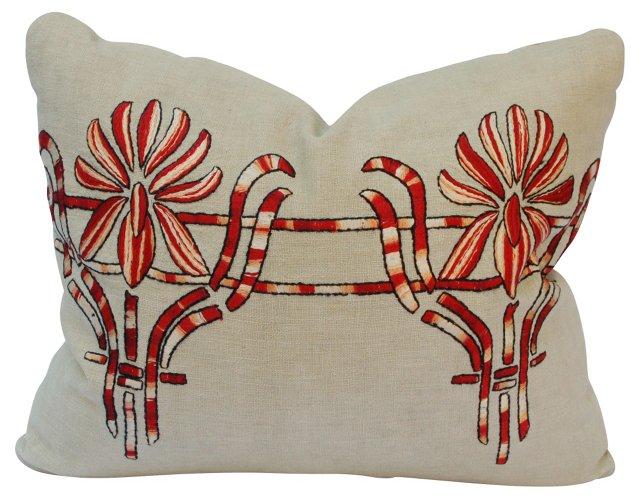 Art Nouveau Embroidered Pillow