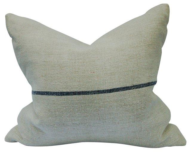 French Linen Ticking Pillow