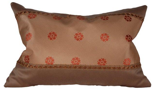 Pillow w/ Antique Floral Silk