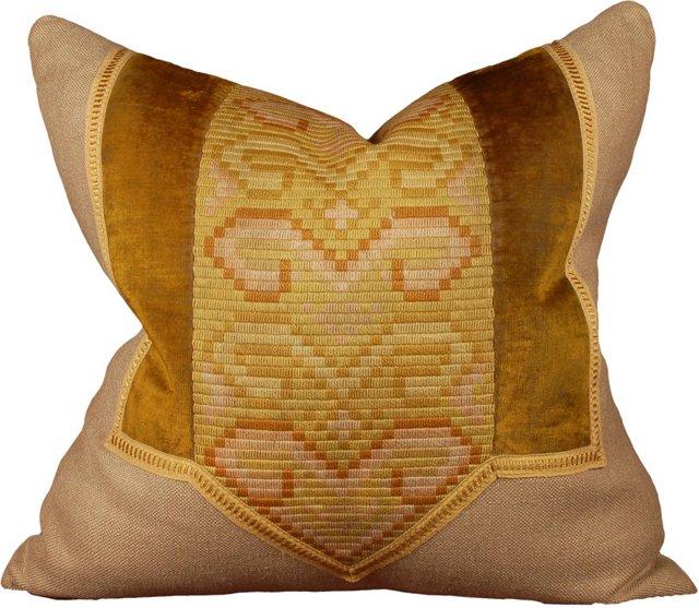 Pillow w/  Austrian Jugendstil Textile