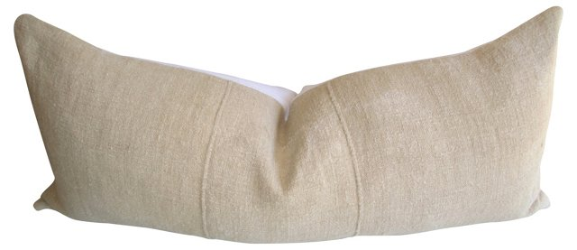 French  Linen & White Body Pillow