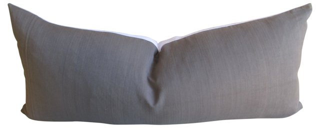Gray French Linen  Body Pillow