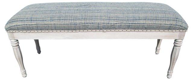 Custom Bench w/ European Blue Textile