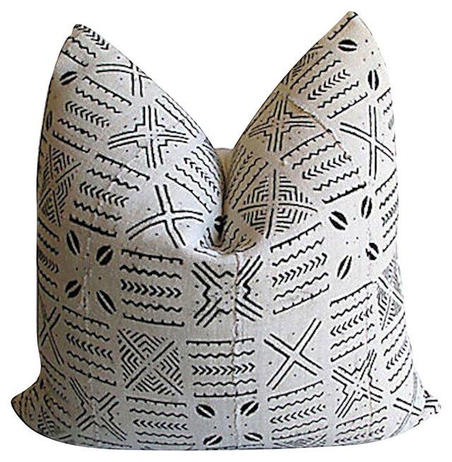 African Textile & Linen Pillow