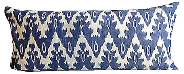Blue & White Ikat Body Pillow