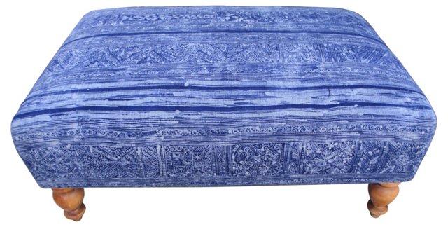 Blue Batik Ottoman