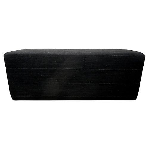 Mali Black Mud-Cloth Bench