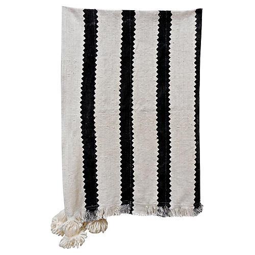 Malian Mud-Cloth Tassel Throw