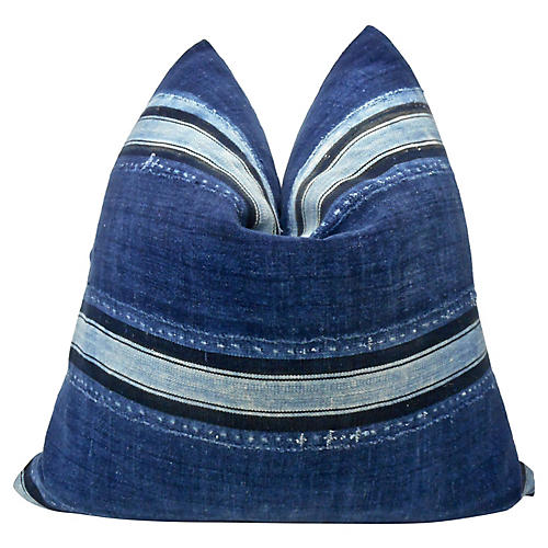 Burkina Faso Indigo Blues Pillow