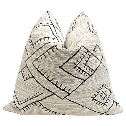Habitas Flannel & Kona Chenille Pillow