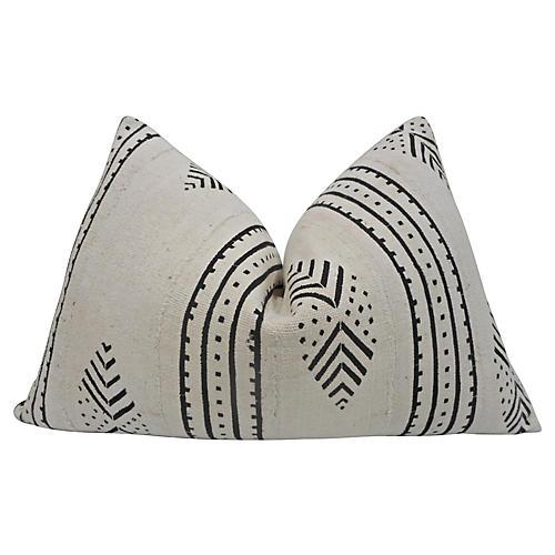 Mali Mud Cloth & Linen Pillow, Large