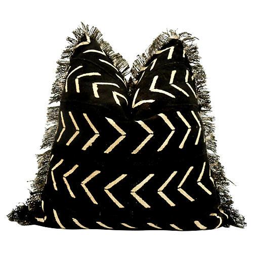 Tribal Hand-Woven Fringe Pillow