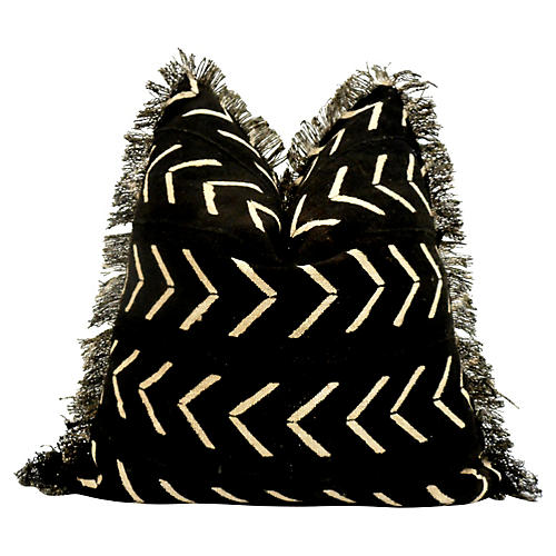 Tribal Hand-Woven Fringe Pillow