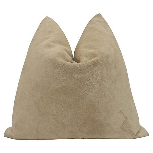 Italian Suede & French Linen Pillow