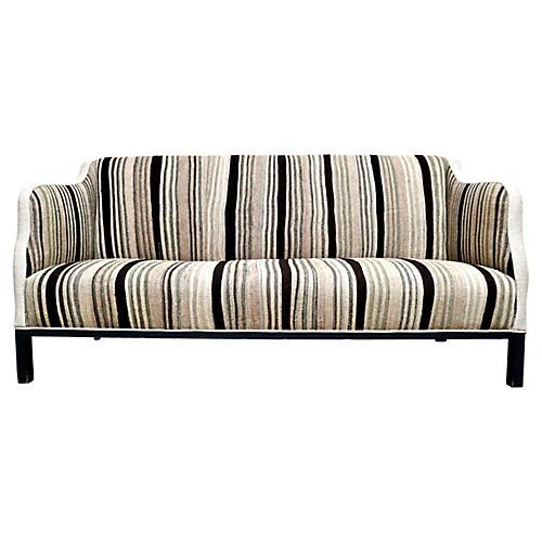 Custom Vintage Berber Handwoven Sofa